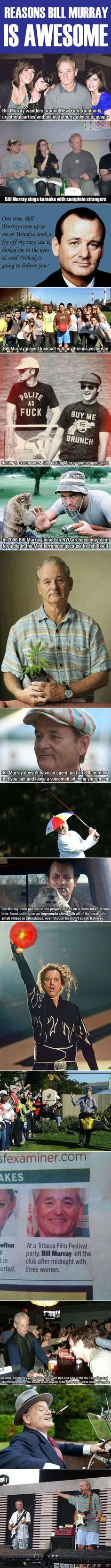 Why Bill Murray Is One Of The Most Awesome Guys In The World on imgfave