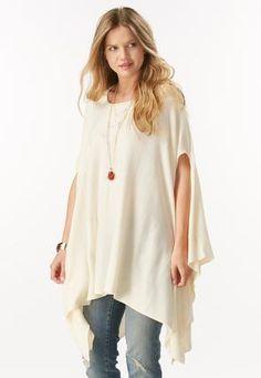 f209c10286b507 Cato Fashions Hanky Hem Knit Poncho  CatoFashions Plus Size Sweaters