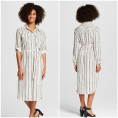 Who What Wear Midi Striped Shirt Dress NWOT - Sz S Who What Wear for Target Midi Striped Shirt Dress NWOT - Sz S.     More pictures and details to come Who What Wear Dresses Midi