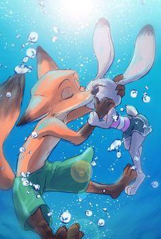 """""""夏場は水の中描きたくなるよね。ぶくぶく.。o○"""""""
