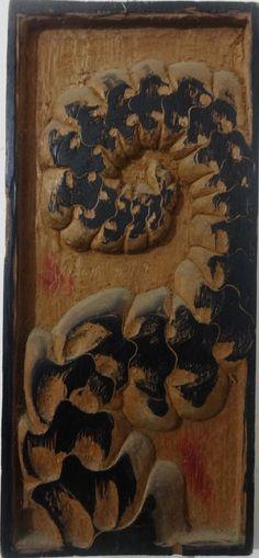Sem titulo  Dimensões - 40 x 18 cm Técnica - entalhe e tinta tipográfica sobre madeira 2012
