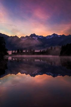 Darkness falls over the mountains. Fog covers the waters. Pure bliss.