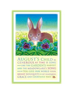 August's Child Print Bunny by TreasuredAndTrue on Etsy, $24.00