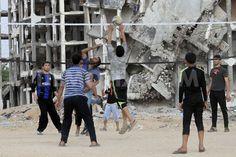 Daily life in Gaza Strip among ruins