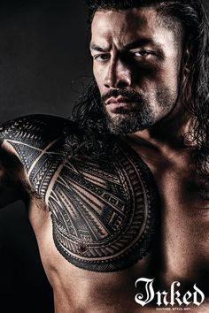 """Roman Reigns Opens Up On Working Alongside """"The Rock"""" in Hobbs & Shaw, Tattoos and His Favorite Fans - Tattoo Ideas, Artists and Models Roman Reigns Logo, Roman Reigns Tattoo, Wwe Roman Reigns, Magazine Man, Inked Magazine, Roman Reigns Shirtless, Roman Regins, Wwe Superstar Roman Reigns, Dwayne The Rock"""