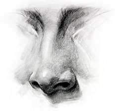 Nose Drawing, How to Draw a Nose - How to Draw Noses - Step by Step, -tutorial with thanks to proko, How to draw Face, Resources for Art Students Painting & Drawing, Nose Drawing, Drawing Faces, How To Draw Faces, Hard Things To Draw, Bible Drawing, Art Faces, Pencil Drawings, Art Drawings