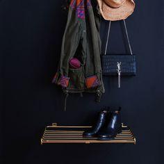 Shoe Shelf Skohylde L, Messing - Maze @ Small Hall, Shoe Shelves, Shelf Design, Wardrobe Rack, Maze, Stylish, Furniture, Shoes, Cabinet