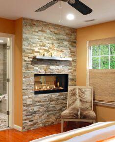 fireplace in bathroom for Nancy