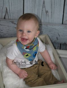 Adorable bandana bib. Made with quality soft flannel and/or cotton fabric to keep your little one dry and cute as a button.