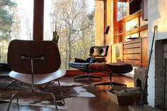 LCM & Lounge Chair, designed by Charles & Ray Eames in 1945 & 1956 for Vitra.   Get The Originals at www.2ndfloor.gr