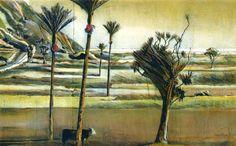 Stanley Palmer (NZ) - Bamboo engraving and lithograph Artist Painting, Painting & Drawing, New Zealand Landscape, Nz Art, Maori Art, Queen, City Art, Art History