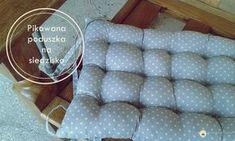 Denerwują Cię niewygodne i twarde do siedzenia krzesła? Koniec z tym. Zobacz jak możesz uszyć wygodną #pikowaną #poduszkę na #siedzisko.#handmade #szycie #sewing #craft #diy by #brzostula
