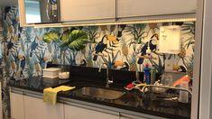 Nossa cliente Ana Maria Bezerra de Brito aplicou o papel de parede na cozinha e ficou simplesmente lindo. Amamos!!