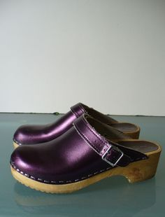Vintage Hannah Anderson Vollsjo Clogs Made in Swedan Size 35 EU by TheOldBagOnline on Etsy