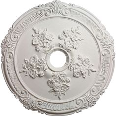 """26""""OD Attica with Rose Ceiling Medallion (Fits Canopies up to 4 1/2"""") - CM26AT - CM171810 - ceiling medallions, plaster ceiling medallions, chandelier medallions, white ceiling medallions, foam ceiling medallions by Architectural Depot"""