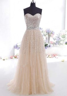 Sexy robe de soirée longue dos nu paillette elégantes bandeau abricot femme