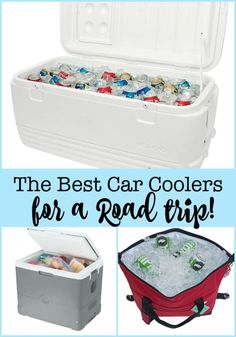 Here is a look at some of the best car coolers on the market! We own them, we've used them- and we know which ones work best for different kinds of road trips! Family Road Trips, Family Camping, Family Travel, Camping With Kids, Travel With Kids, Car Cooler, Camping Hacks, Camping Ideas, Road Trip Destinations