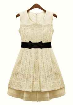 Ivory Sleeveless Pleated Bandeau Chiffon Dress