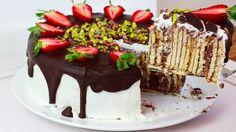 Kochvideo zum einfach nachkochen: Zutaten für eine 24er Springform:- 650-700 g Butterkekse- 3 Packungen Paradiscreme Schoko- 900 ml kalte Milch- 150 g weiße