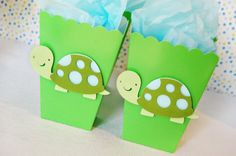 Slow & Steady Turtle Favor Bags by http://pinwheellane.etsy.com