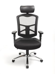 ACTL 428 Black Mesh & Leather Executive Chair