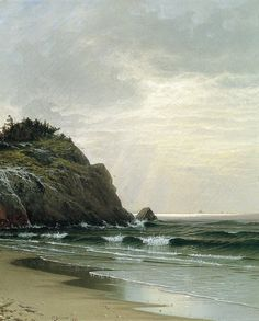 """laclefdescoeurs: """" Cloudy Day, 1871, Alfred Thompson Bricher """""""