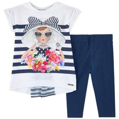 Long graphic T-shirt and leggings - 174368