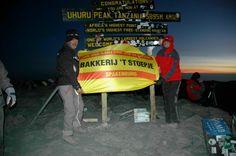 Beklimming Kilimanjaro 5e dag. De top bereikt 5895 mtr