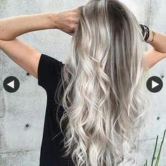 #lovehair #silver #ash #blonde #grey #hair #fashion #trend #beautiful
