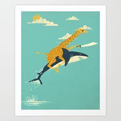 Onward! Art Print by Jay Fleck   Society6