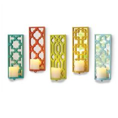 Set of Five Prisma Candleholders