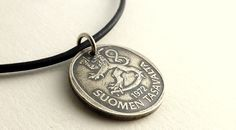 Finnish Coin necklace Men's necklace Coins Coin by CoinStories