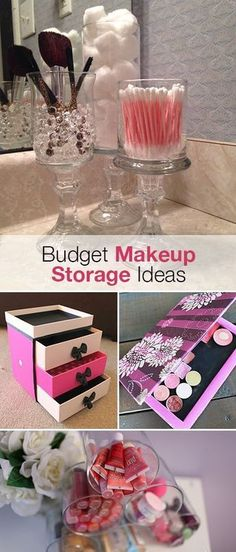 Budget Makeup Storage Ideas • Ideas and tutorials for storing all your makeup to help keep you organized for 2016!