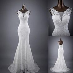 Cheap lace mermaid wedding dress, Buy Quality mermaid wedding dresses directly from China wedding dress Suppliers: C.V Real photo Custom Made Lace Mermaid Wedding Dress 2018 White Color V Neck Fish Tail Sexy Mariage Wedding Dresses Backless Mermaid Wedding Dresses, White Lace Wedding Dress, Wedding Dresses 2018, Mermaid Dresses, Bridal Dresses, Gown Wedding, Backless Wedding, Dress Lace, Wedding White