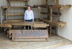 Antique Solid Wooden Workbenches Delivered Worldwide