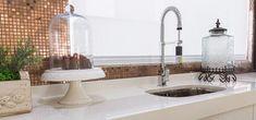 Pia de porcelanato cozinha branca e moderna E Design, Sink, Bathroom, Kitchen, Home Decor, Toilet Decoration, Small Shower Room, Houses, Interiors