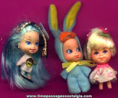 3) Different Old Liddle Kiddles Dolls - TPNC
