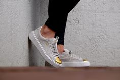 Puma WMNS Creepers Suede Platform Gold/ Gold Star - White - 0362222-01