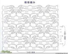 un joli point pour une étole ou écharpe au crochet