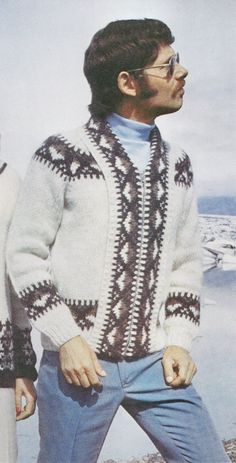 Mens Knitting Pattern Jacket Pattern by McPhersonStVintage on Etsy