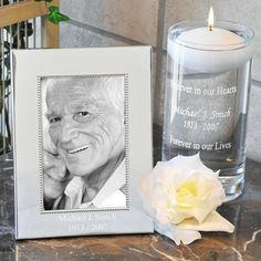 Floating Memorial Personalized Candle, idea for life celebration, funeral of memorial service favor or gift