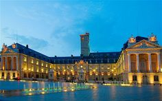 The Ducal Palace: stands at the city's heart: the adjacent Musée des Beaux-Arts houses the lavish tombs of the Duchy's formidable rulers. Dijon France, Rue Pietonne, France City, Le Palais, Romanesque, Plan Your Trip, Home Art, Serenity, Canvas Art