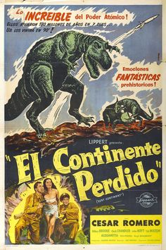 The Lost Continent Sci Fi Movies, Old Movies, Vintage Movies, Horror Movies, Dinosaur Images, The Lost World, Godzilla Vs, Fantasy Films, Prehistoric Animals