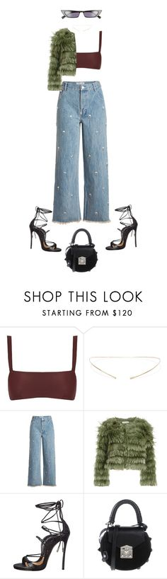 """""""karma got a kiss for u"""" by andy993011 ❤ liked on Polyvore featuring Matteau, Jennie Kwon, Sandy Liang, Alice + Olivia, Dsquared2, SALAR and Kendall + Kylie"""