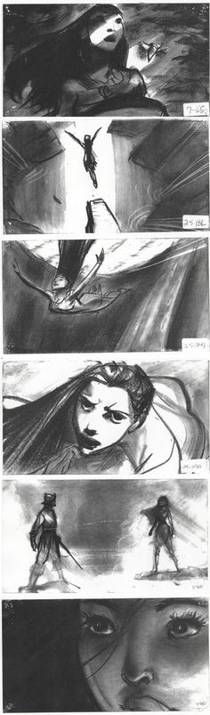 Pocahontas boards by Glen Keane