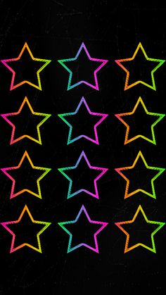 By Artist gizzzi. Rainbow Wallpaper, Star Wallpaper, Locked Wallpaper, Wallpaper Backgrounds, Iphone Wallpaper, Star Background, Background Patterns, Stars At Night, Stars And Moon
