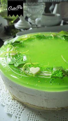 Kirpsakka Lime-valkosuklaa juustokakku