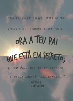 Ore em segredo