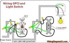 gfci receptacle and switch same box Howto...... in 2019