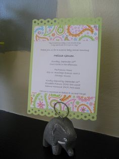 Love handmade invitations!